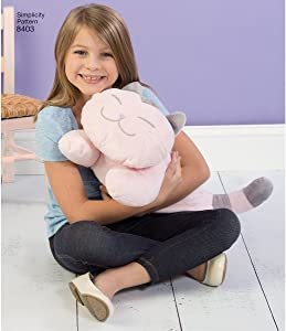 Simplicity Stuffed Kitten Sewing Patterns for Kids by Carla Reiss, One Size Only
