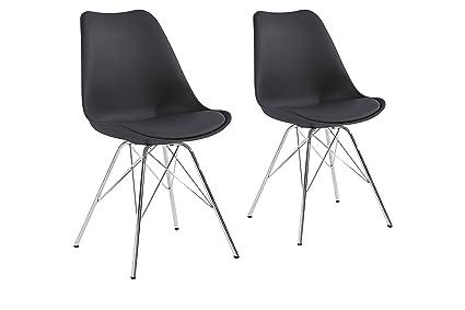 Sedie In Metallo E Plastica : Cavadore ursel set di sedie in metallo cromato plastica e