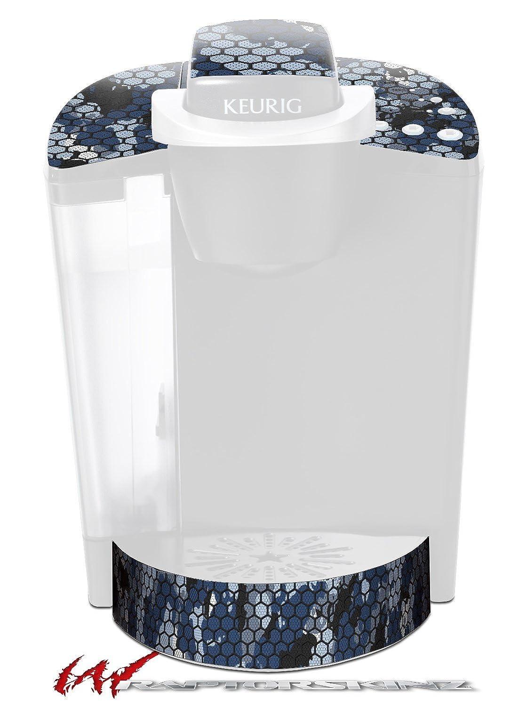 六角メッシュ迷彩01ブルー – デカールスタイルビニールスキンFits Keurig k40 Eliteコーヒーメーカー( Keurig Not Included )   B017AJZSEQ