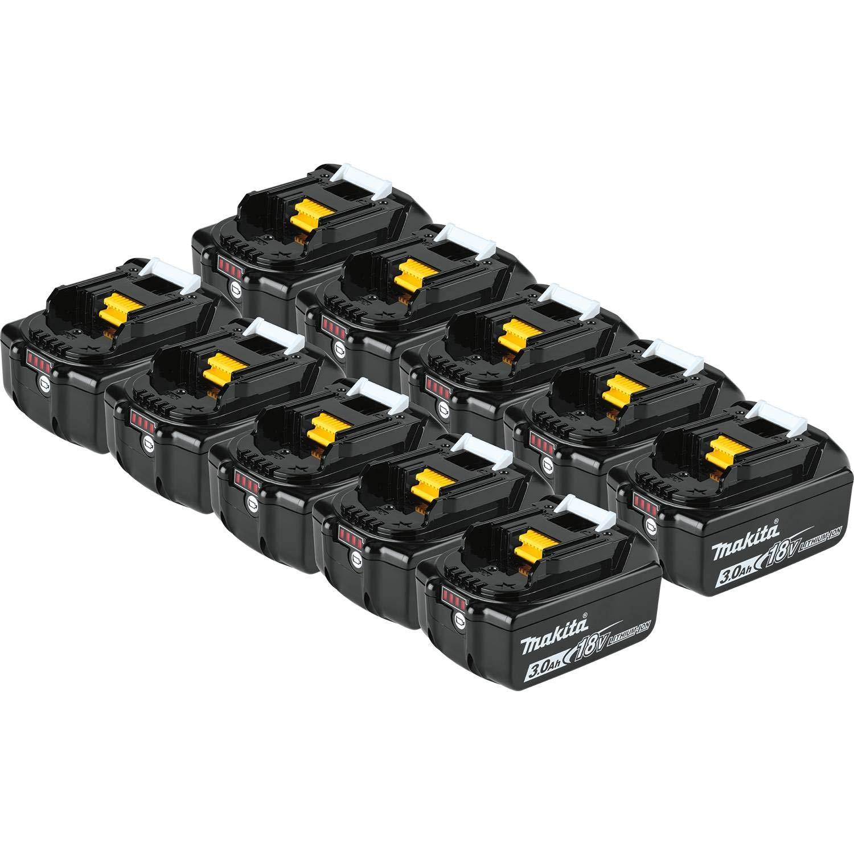 10 Baterias Originales Makita BL1830B-10 18V LXT 3.0 Ah
