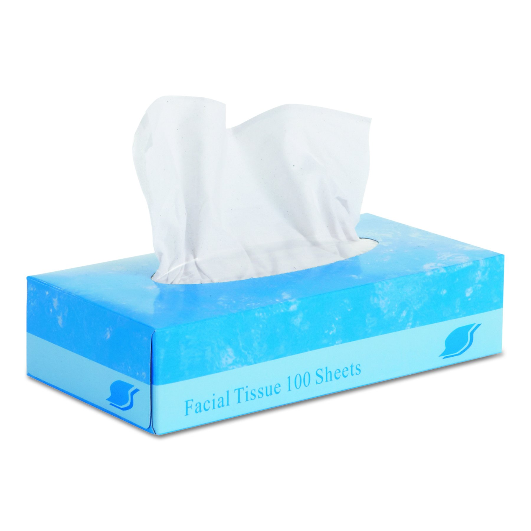 GEN 6501 Facial Tissue, Flat Box, 2-Ply, 8'' x 8.3'', 100 per Box (Case of 30 Boxes)