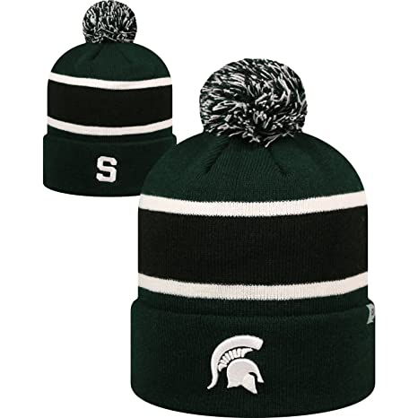 e568ca6c031 Image Unavailable. Image not available for. Color  Michigan State Spartans  Whirl Cuffed Pom Knit Beanie Hat ...