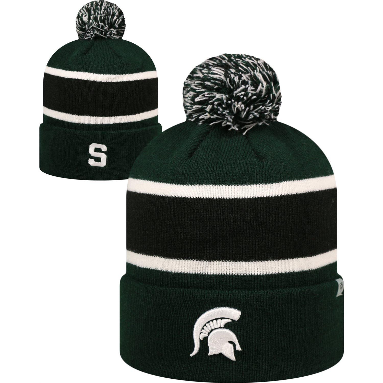 Cap Michigan State Spartans Whirl Cuffed Pom Knit Beanie Hat