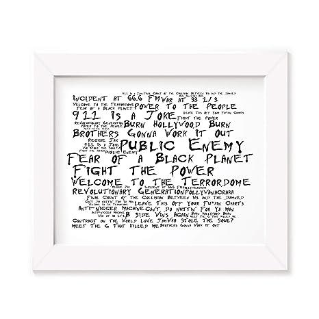 Public Enemy Poster Print - Fear Of A Black Planet - Letra ...
