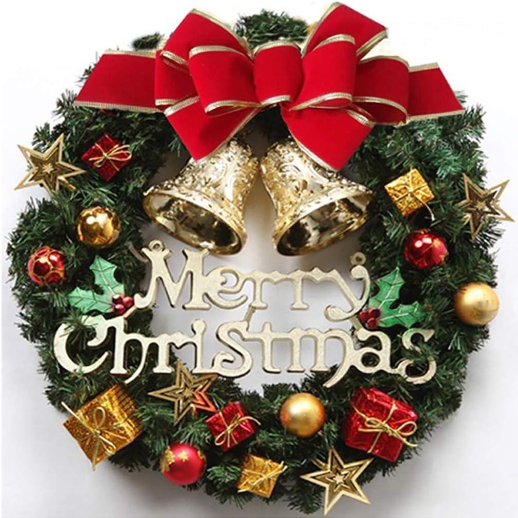 GJF Guirnaldas Decoraciones de Navidad Coronas de Navidad Algodón Anillo ratán Rattan Anillo Puerta de la Ventana Decoración Colgante Colgante 30CM40CM Diámetro (Color : D, Size : 30cm): Amazon.es: Hogar