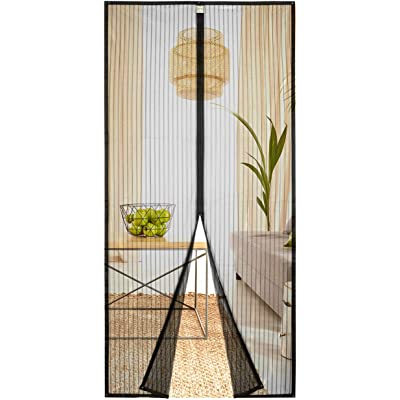 Homitt Mosquitera magnética para puerta, Mosquitera Puerta 80x200cm, con cortina de malla resistente con 26 imanes, parte superior reforzada antidesgarro, gancho y bucle de marco completo