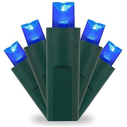 kringle traditions blue led christmas mini string light set 50 5mm lights indoor