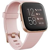 Ga voor een gezond en actief leven met Fitbit Versa 2, de premium smartwatch met spraakbediening, slaapscore…