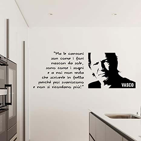 Adesivi Murali Vasco Rossi.Adesiviamo Vasco Rossi Ma Le Canzoni Son Come I Fiori Wall
