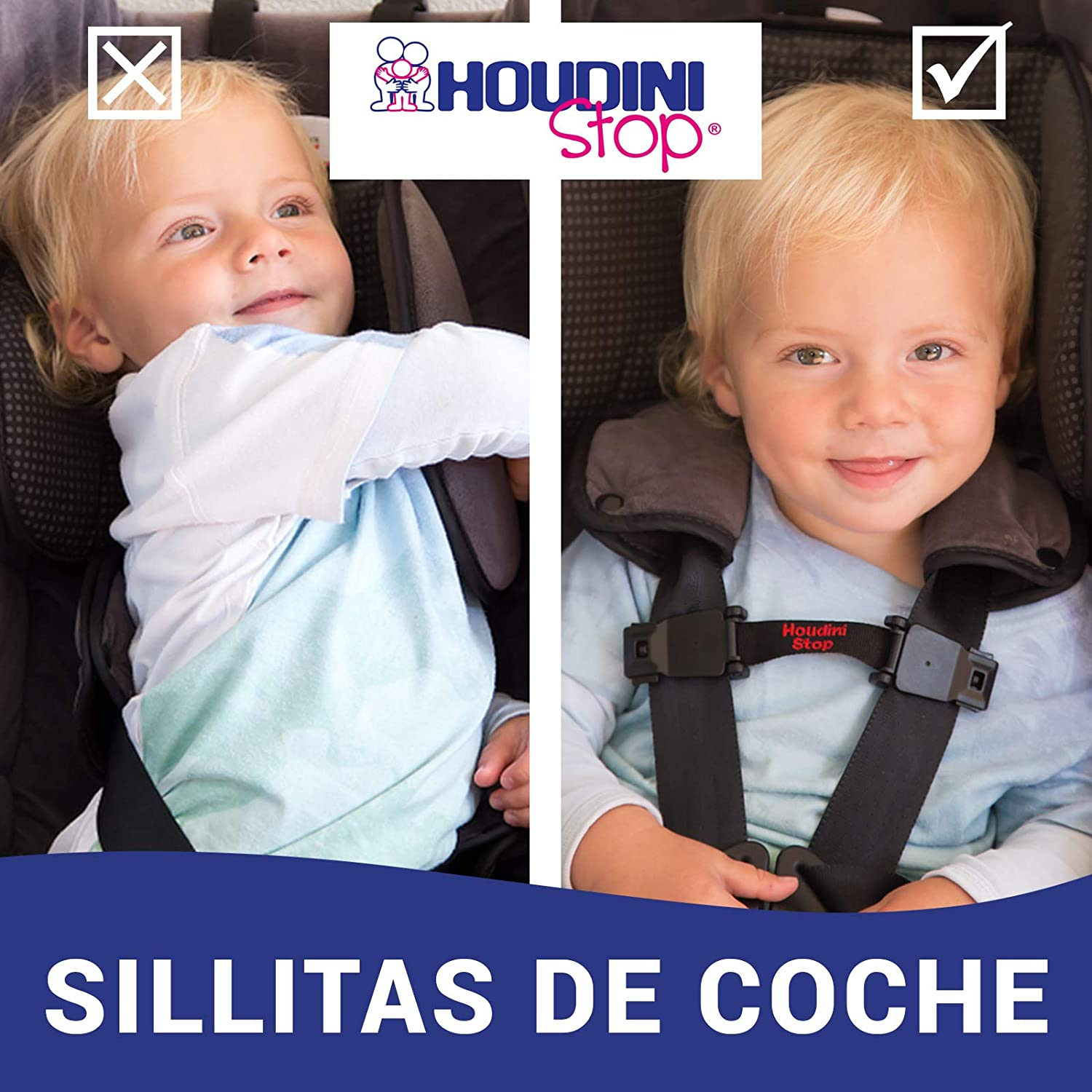 Amazon.com: Houdini Stop Car Seat Chest Clip (TWIN PACK): Baby