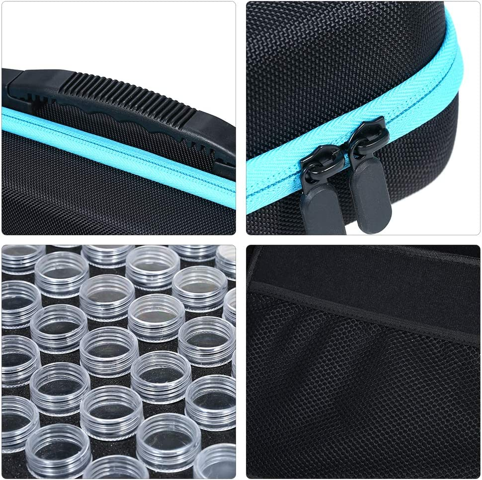 Diamond Embroidery Painting Accessory Tool Hand Bag Container Holder Zipper Design Decdeal 60 Bottles Diamond Storage Box