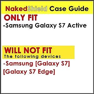 [NakedShield] Black/Black Armor Case [Kick Stand] Urban Shockproof Defender - K for Samsung Galaxy [S7 Active]