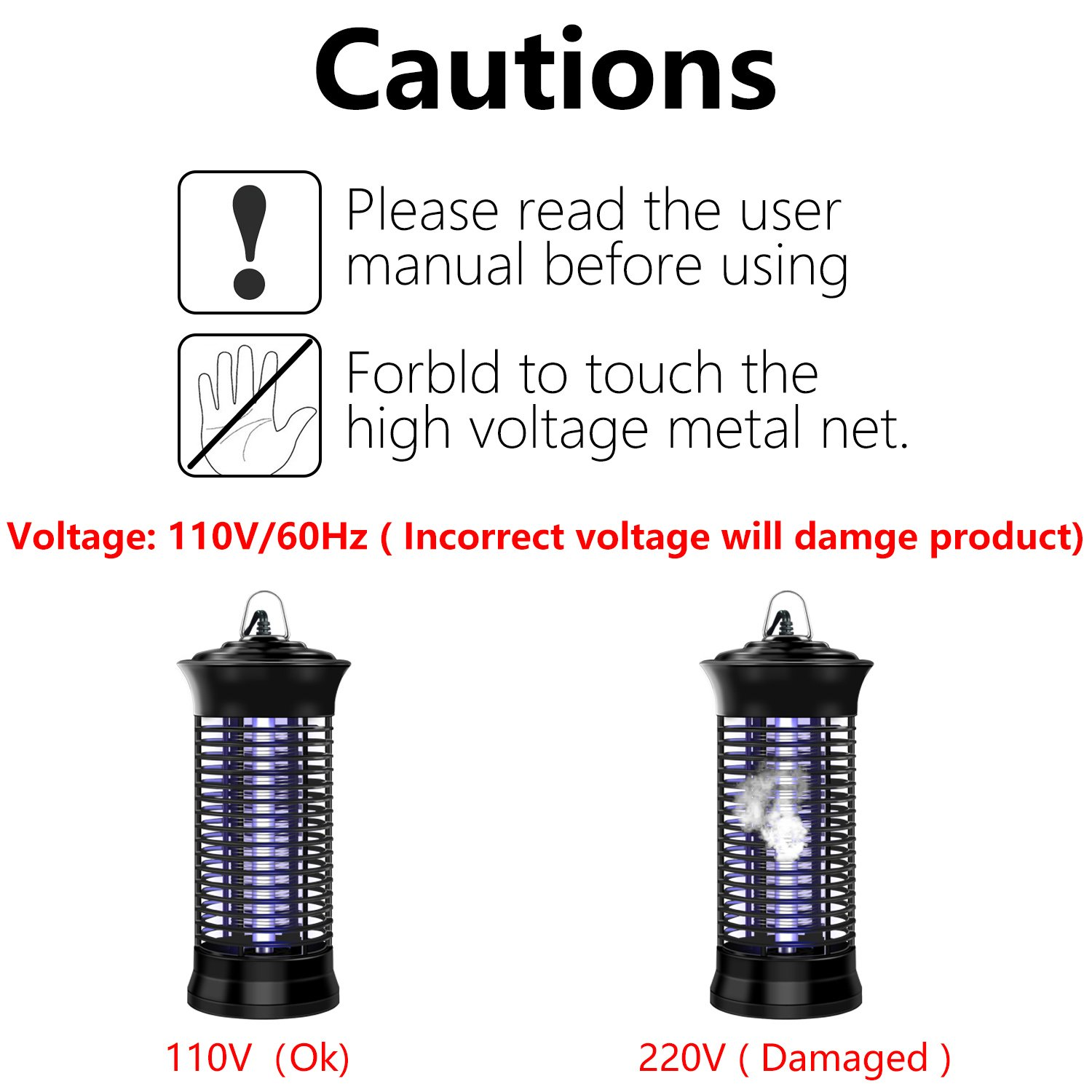 EYECLUB Indoor Electronic Mosquito Killer, Bug Zapper, UV Light Bulb, Low  Power Consumption, No Chemical Insect Killer for Home, Garden, Yard,