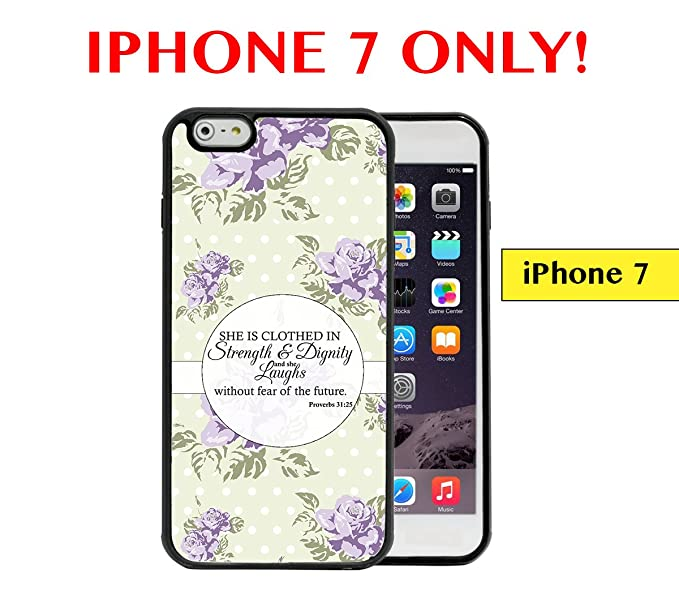 best service 1749b d1d86 Amazon.com: IPHONE 7 - Proverbs 31-25 Verse Pastel Green Background ...