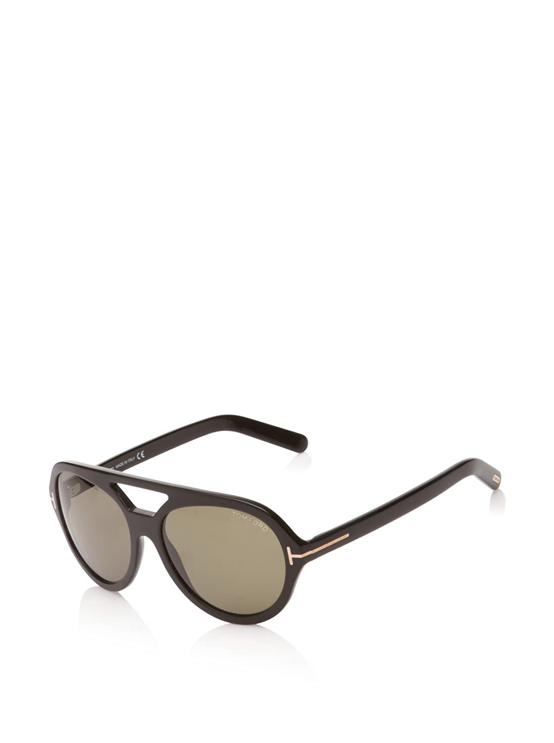 Tom Ford Sunglasses TF 141 Henri - 01N Black (Green Lens) - 57mm   Amazon.in  Clothing   Accessories 00db15b99c78