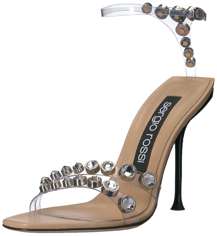 official photos eb645 7b3a2 Amazon.com | Sergio Rossi Women's PVC Jewel Sandal Heeled ...