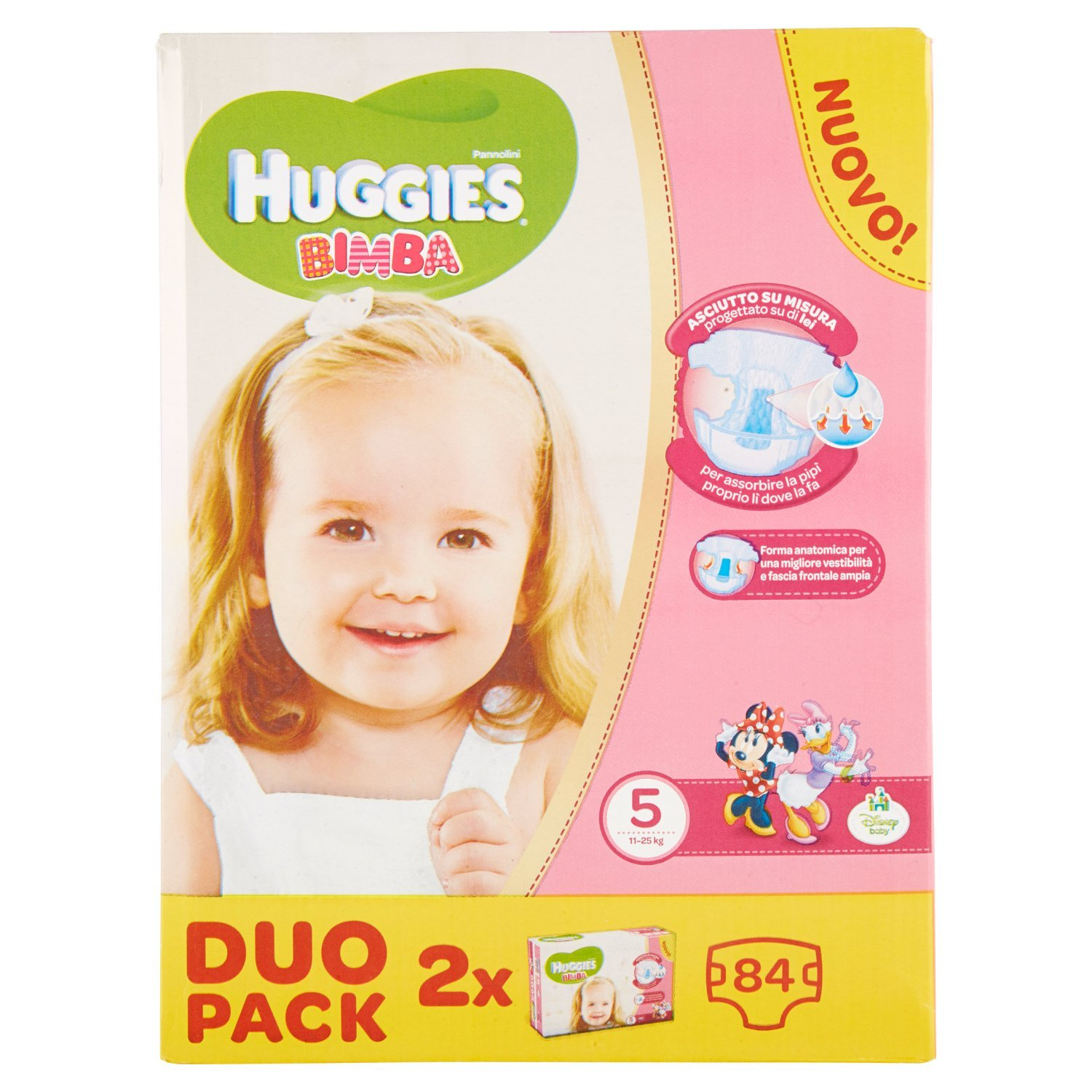 Huggies - Bimba - Nappies - Size 5 (12-18 kg) - 2 x 42 Nappies Kimberly Clark 02565821