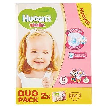 Huggies - Bimba - Pañales - Talla 5 (12-18 kg) - 2 x 42 pañales: Amazon.es: Salud y cuidado personal