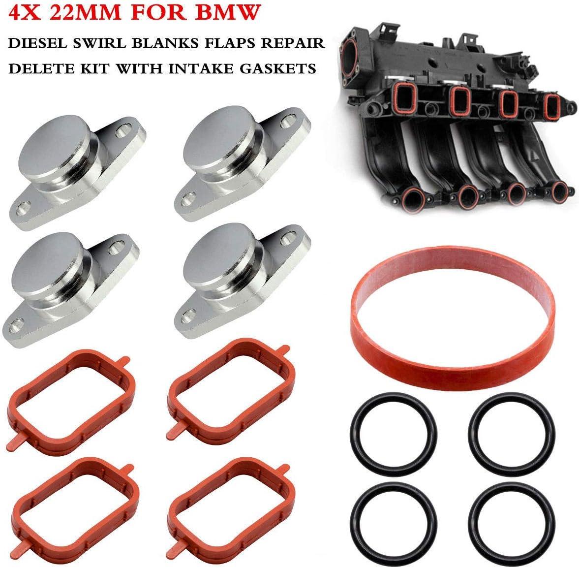 4x 22mm Diesel Swirl Flap Removal Blanks Gasket For BMW 320d 330d 520d 525d 530d