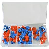 CCLIFE 50 piezas conector derivacion rojo y azul