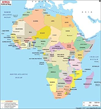 Africa Political Map Amazon.: Africa Political Map (36