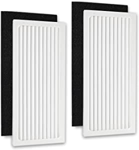 2 Pack 990051000 Filter Compared for Hamilton Beach 04383, 04384, 04385 Air Purifier