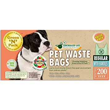 Amazon.com: N Pack perro residuos basura bolsas verde (easy ...