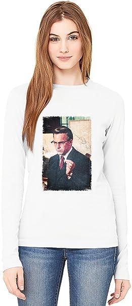 low priced 162c7 d5b73 JFK Jim Garrison T-Shirt da Donna a Maniche Lunghe Long ...