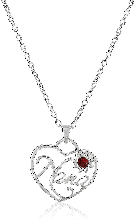 Hallmark Jewelry Mom & Family Sterling Silver Nana Crystal Pendant Necklace Jacmel Jewelry C900115RPL-P.AZ