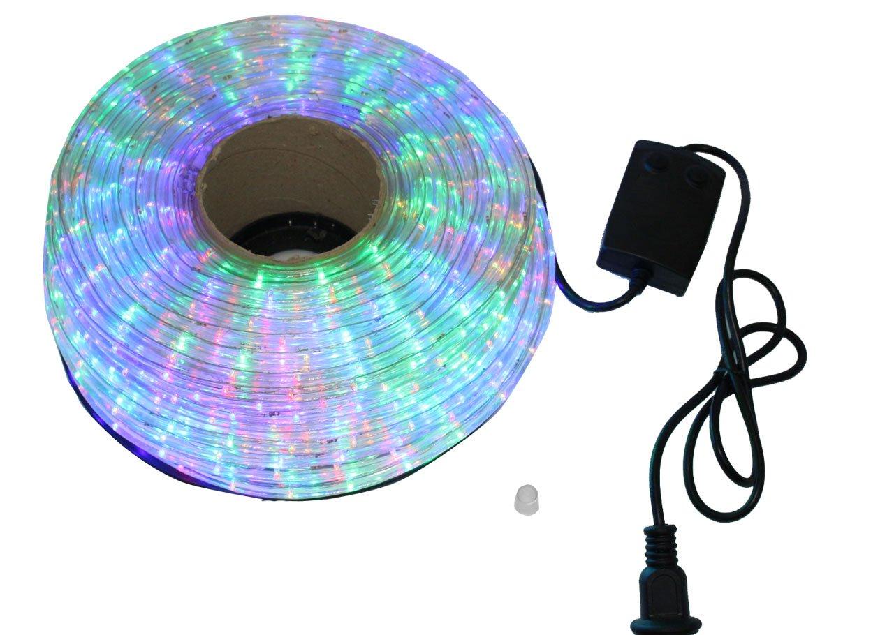 クリスマス イルミネーション 2芯 丸型 防水 ロープ ライト 1500 LED / 50m ミックス 33種類 コントローラー セット B01LVY5913 13980