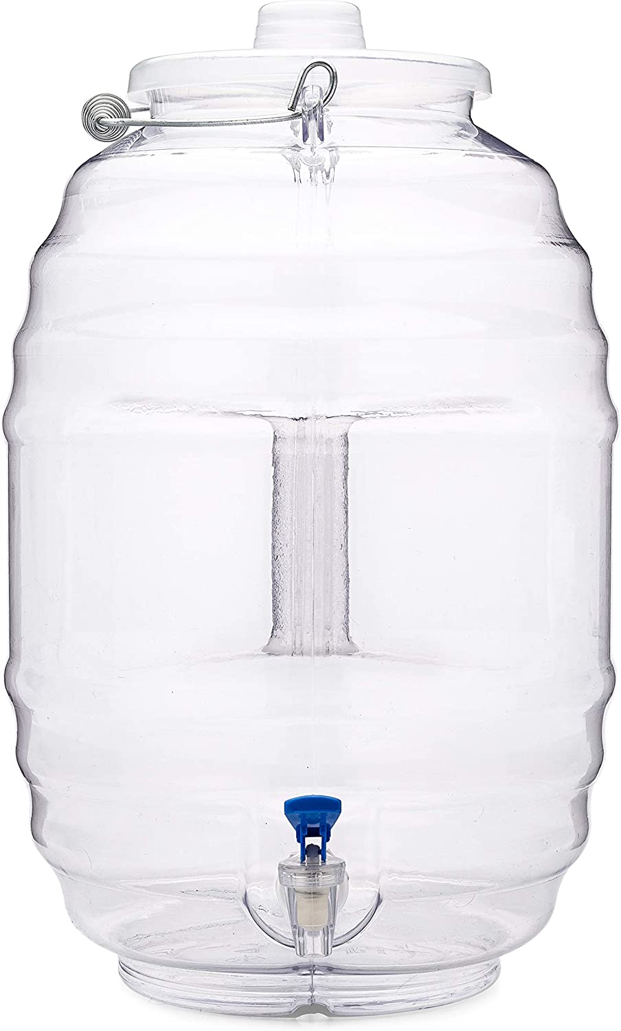 CHAMPS 5 Gallon Jug with Lid and Spout - Aguas Frescas Vitrolero Plastic Water Container - 5 Gallon Drink Dispenser - Large Beverage Dispenser Ideal for Agua fresca and Juice - Drink Jar Containers