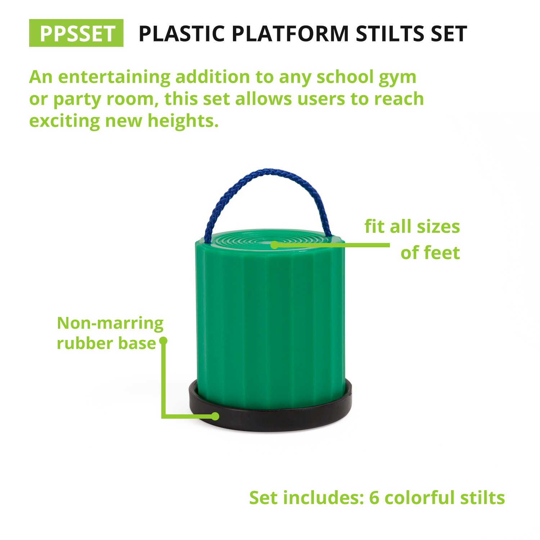 Champion Sports Platform Kid Stilts: Classic Kids Party, Birthday, and Picnic Game Set by Champion Sports (Image #2)