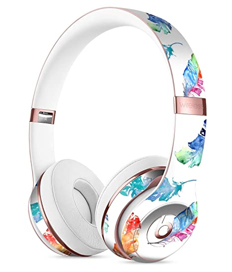 743b30bb871 Watercolour Feather Floats DesignSkinz Full-Body Skin Kit for The Beats by  DRE Solo 3
