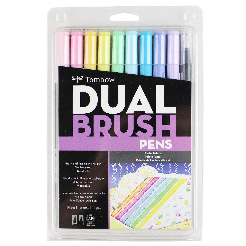 トンボ鉛筆 デュアルブラッシュペン ABT パステル10本セット
