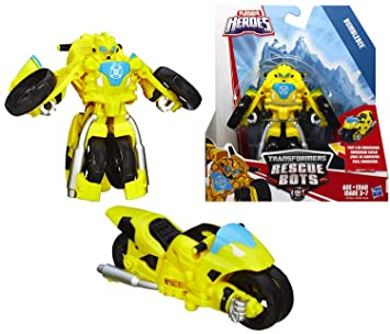 Amazon Com Bumblebee The Robot To Motorcycle Playskool Heroes