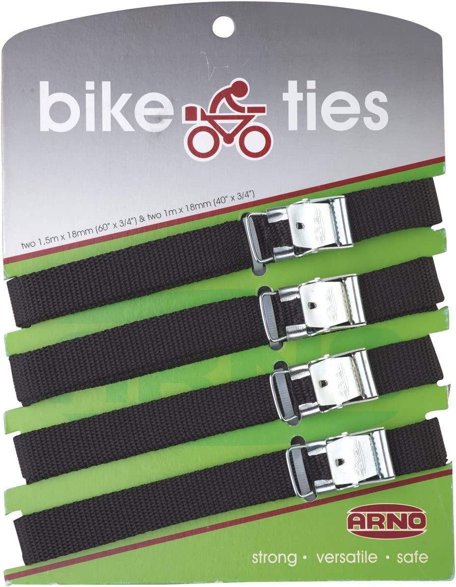 Arno 5410130 bicicleta lazos, negro, 18 mm, juego de 4: Amazon.es ...