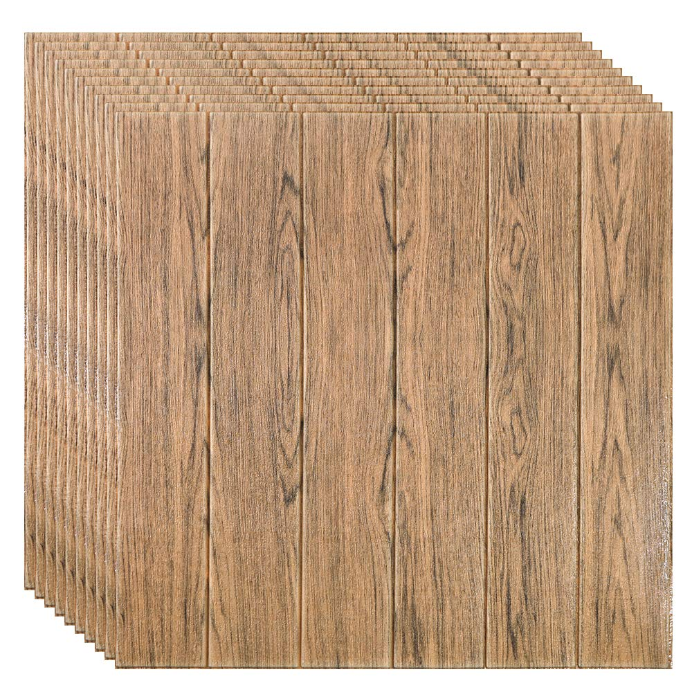 Faux Wood Wall Panels Peel And Stick Pe Foam Wood Paneling 3d Wall Panels For Fake