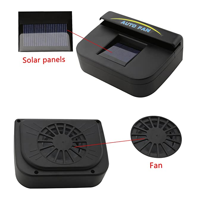 Amazon com: Fordex Group Solar Powered Car Auto Air Vent