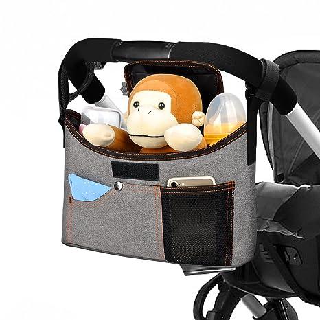Yarrashop Bolsa Organizador Almacenamiento, Cochecito de Bebé Cochecito Colgar Bolsas Organizador para Cochecitos de Bebé