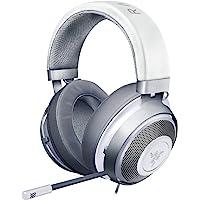 Razer Kraken Gaming Headset: Lightweight Aluminum Frame - Retractable Noise Isolating Microphone - For PC, PS4, Nintendo Switch - 3.5 mm Headphone Jack - Mercury White