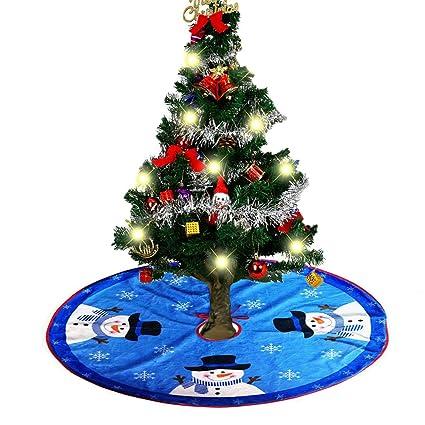 nkiporu 315 inch christmas tree skirts holiday tree ornaments plush tree skirt decoration for christmas decoration