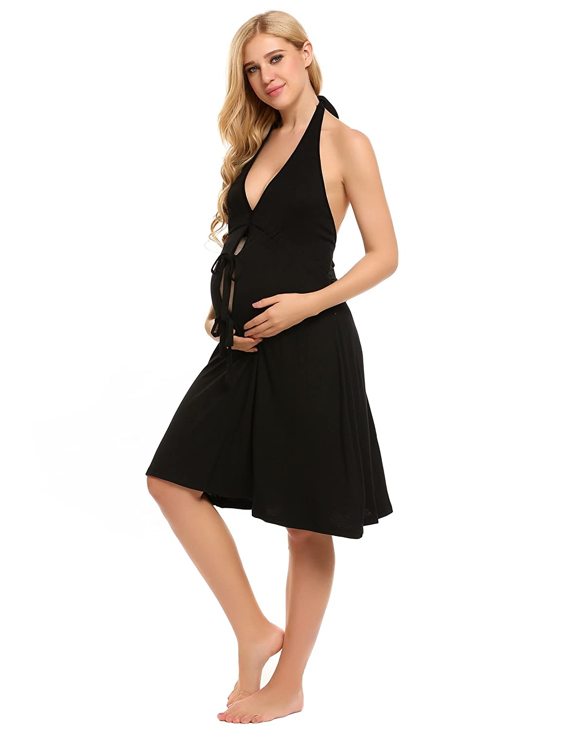 Pretty Pushers Cotton Jersey Labor Gown One Size (2-16 pre-pregnancy ...