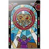 Flying Spaghetti Monster Stained Glass Rectangle Acrylic Fridge Refrigerator Magnet