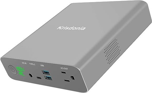 Krisdonia 27000mAh 130W Batería Externa/Mini Generador de energía ...