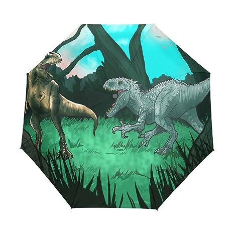 COOSUN Los Dinosaurios Antiguos automático 3 Plegable del Paraguas del Parasol Color # 001