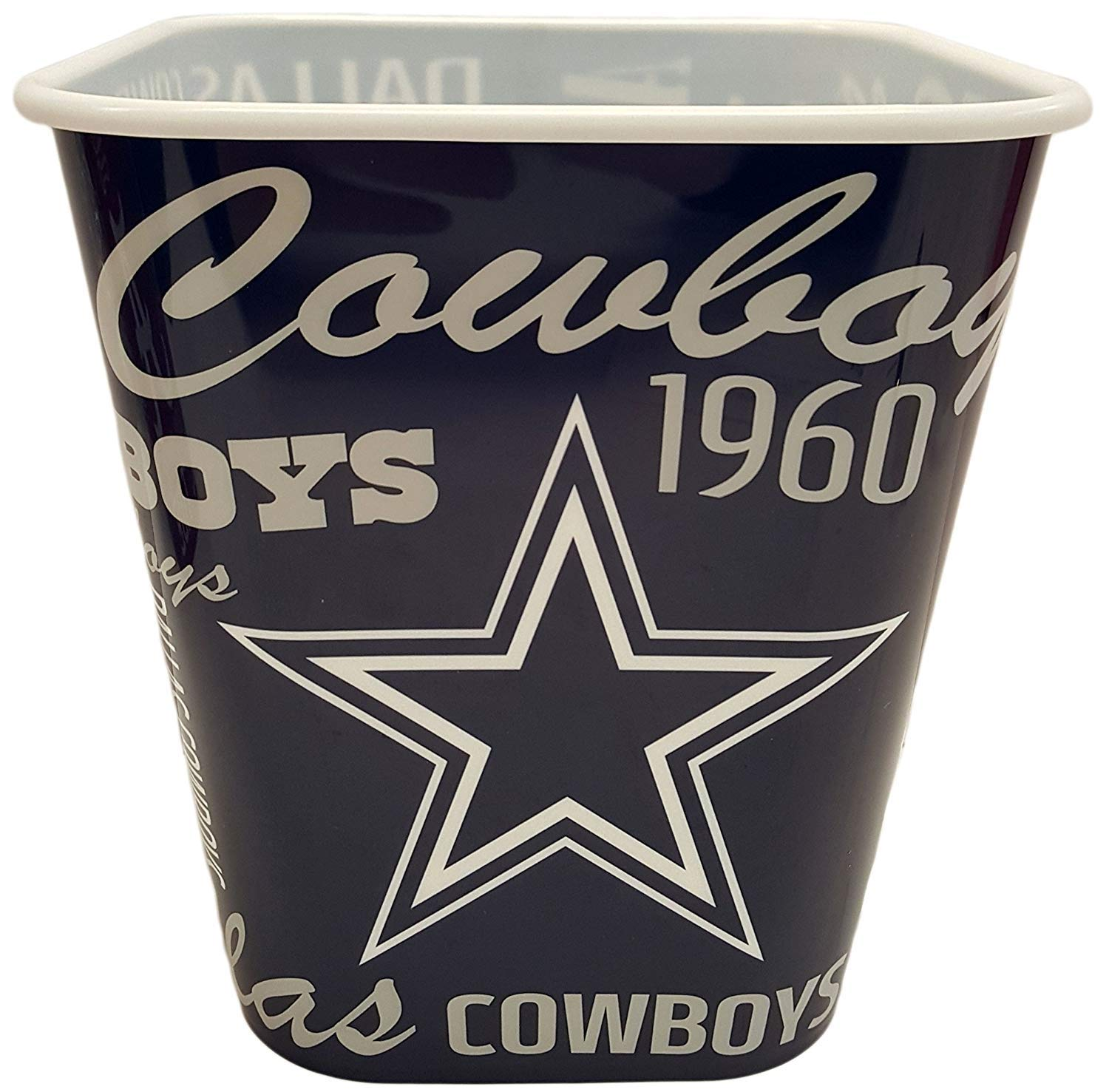 or Use as a Storage Bin! Movie Watching NFL Dallas Cowboys Snack Buckets Dallas Cowboys 7x6.5- Perfect for Game Watching
