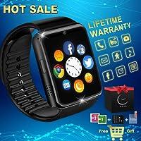 Reloj Inteligente Smart Watch Relojes Deportivos con Camara Whatsapp Bluetooth Smartwatch Pantalla Táctil Teléfonos Inteligentes Compatible iPhone Samsung Huawei Android iOS Hombre Mujer Niño Niña