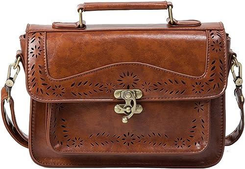 Ladies Vintage Briefcase Girl School Satchel Shoulder Bag Fashion HandBag Woman/'