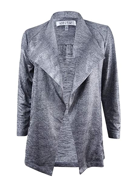 Amazon.com: Kasper Metallic Moto Blazer: Clothing