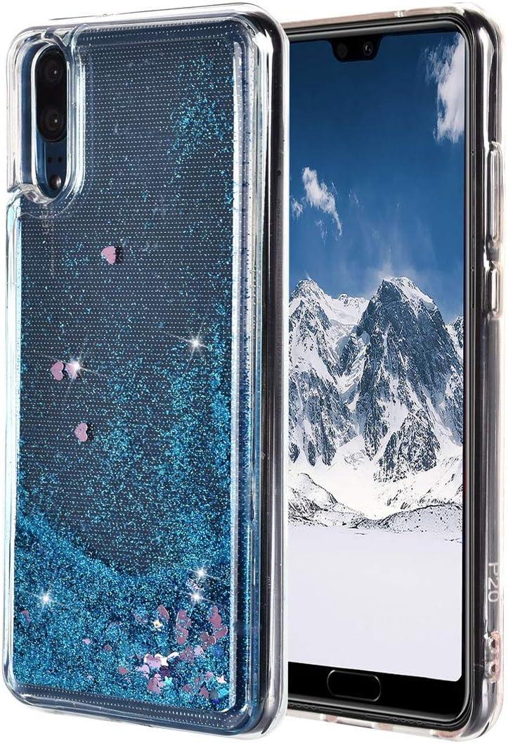 ToMoYi Blling - Funda para Huawei P20 con purpurina para teléfono móvil con líquido y arenas movedizas, de silicona TPU suave, para smartphone Huawei P20, azul: Amazon.es: Instrumentos musicales